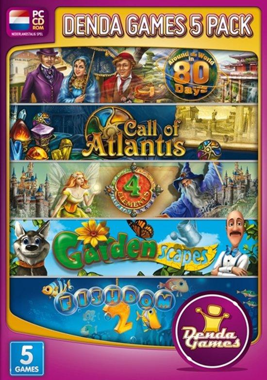 Denda Games Bundel: Around the World in 80 Days + Call of Atlantis + 4 Elements + Gardenscapes + Fishdom 2 - Windows