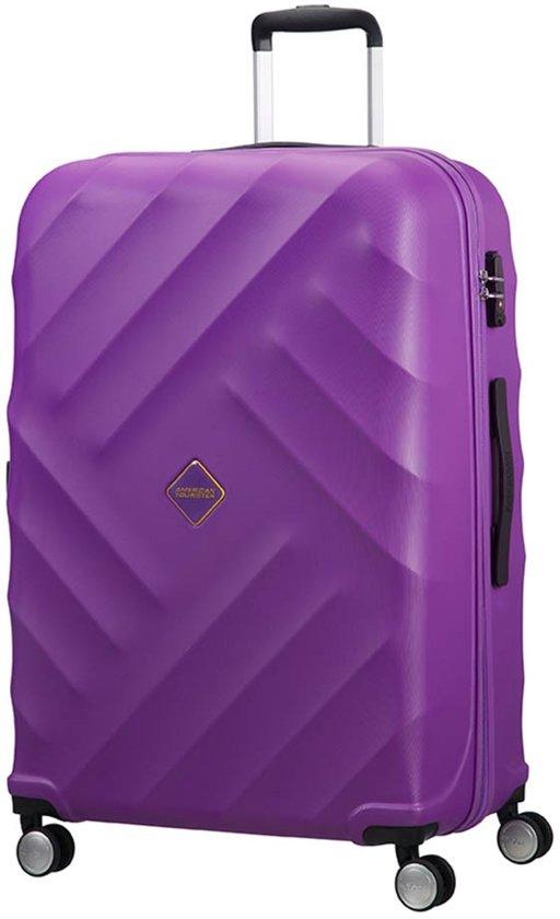 american tourister crystal glow spinner koffer 76 cm deep purple. Black Bedroom Furniture Sets. Home Design Ideas