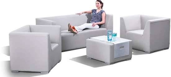 Cool Sense Sofa Set 4 Delig Outdoor Leder Wit Nautic Leder Gmtry Best Dining Table And Chair Ideas Images Gmtryco