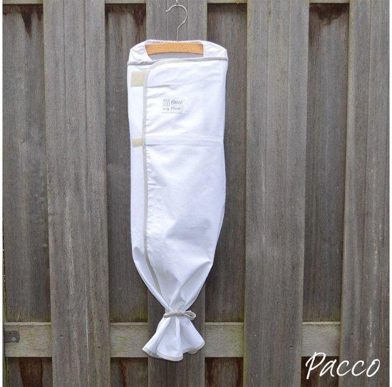 Pacco Piccolo - Inbakerdoek Summer, 4-7 kg - wit