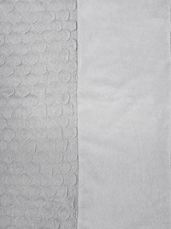 Jollein Fancy Knit Waskussenhoes Katoen/Acryl 50 x 70 cm - Zachtgrijs