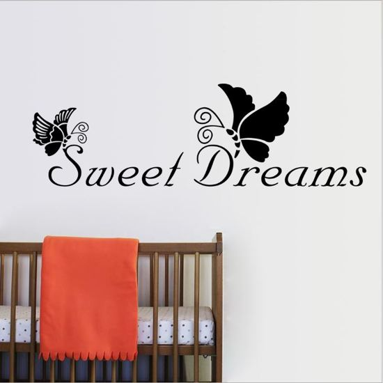 Bol muursticker tekst sweet dreams decoratie slaapkamer