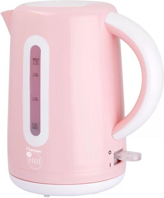 Bestron Draadloze waterkoker 1,7 L 2200 W roze AWK300EVP