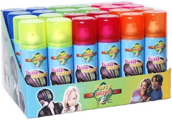 Haarkleurspray fluor kleuren