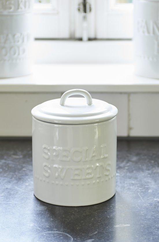 Riviera Maison Special Sweets Jar - Voorraadpot - Wit - Aardewerk