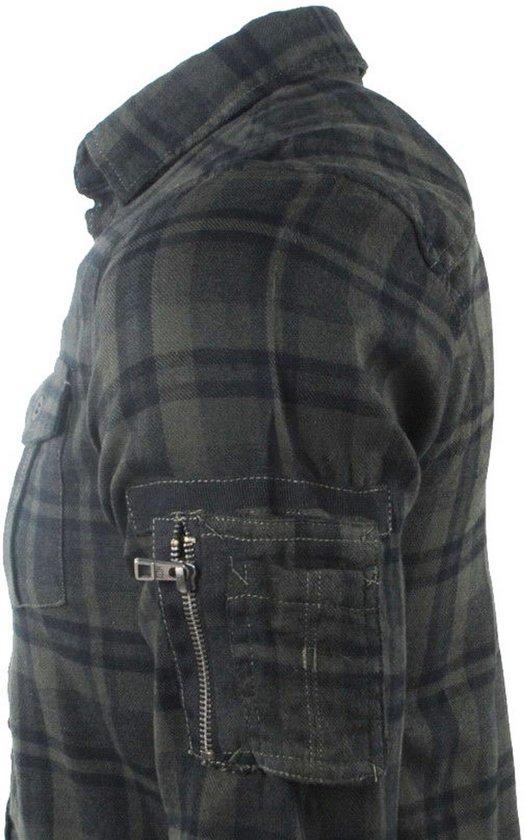 Dalong Mz72 Heren Geblokt Kaki Overhemd Flanellen Borstzakken 88ZzXT