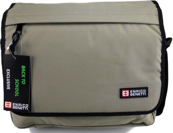 6b219f14208 ENRICO BENETTI Messenger Bag Omhang Schoudertas School Werk Tas A4 Khaki