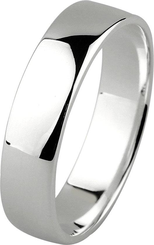 Dito relatiering - zilver - glanzend - vlak - 5 mm breed - maat 60