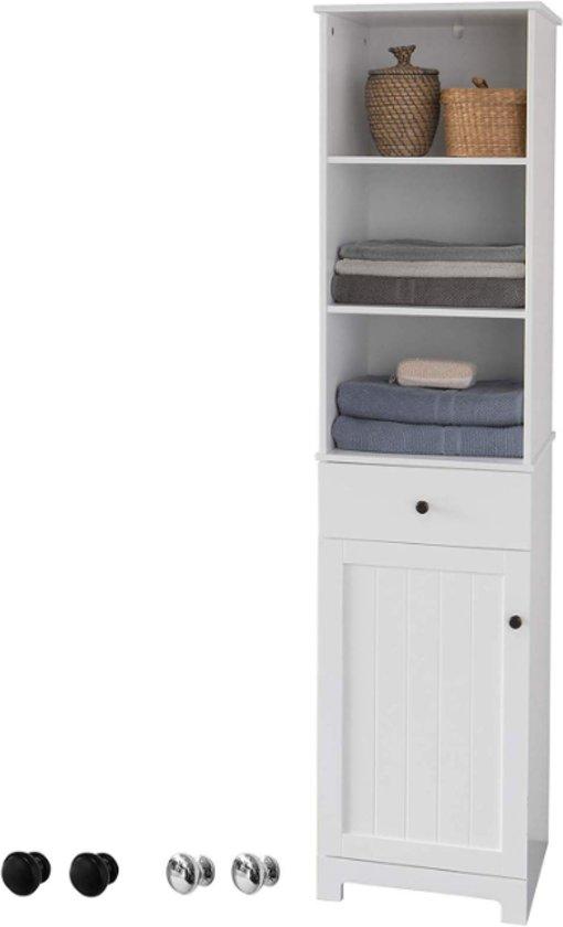 Hoge Kast Voor In De Badkamer Opbergruimte Badkamerkast Wit