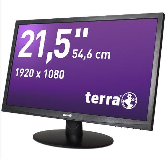 Wortmann AG Terra 2212W DVI Greenline Plus 21.5'' Full HD LED Zwart computer monitor