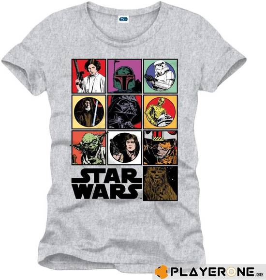 Merchandising STAR WARS - T-Shirt Icon Grey (L)