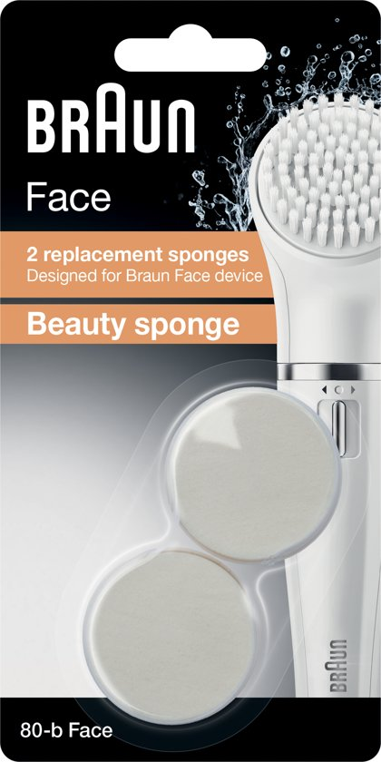 Braun Face 80-b Vervangende Beauty-sponzen - 2 stuks