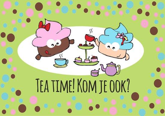 bol | high tea uitnodigingen - kinderfeestje