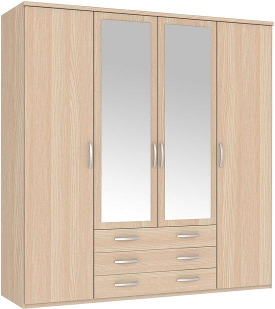 True Furniture New Hallingford 34R - Kledingkast - Acacia bruin