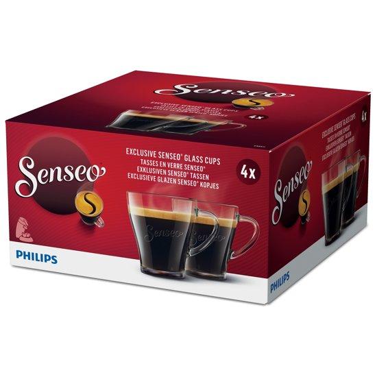 Philips Senseo CA6511/00 – Glazen koffiekopjes - 4 stuks