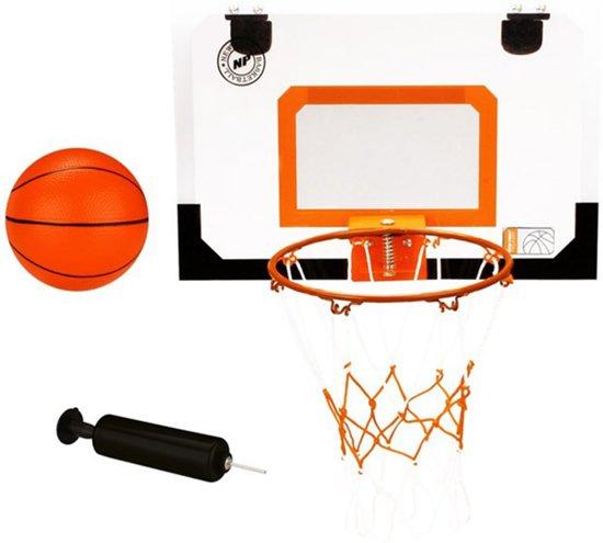 Mini Basketbalbord met ring, bal en pomp