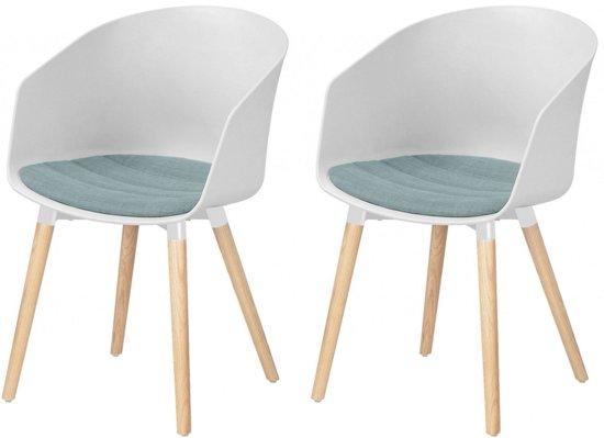 Bol designs set stoelen jonna wit kunststof