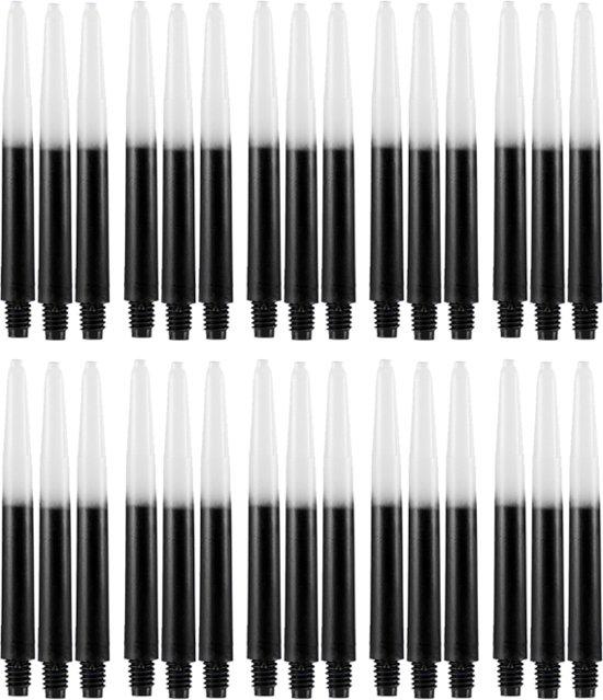 Dragon darts - Two Tone zwart - medium - dart shafts - multipack 10 sets - darts shafts