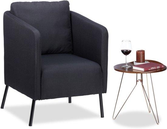 Jaren 50 Stoel : Bol.com relaxdays fauteuil vintage zwart met kussen