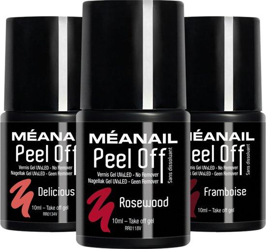 Gel Nagellak - MEANAIL®Peel Off - Delicious - Rosewood - Framboise