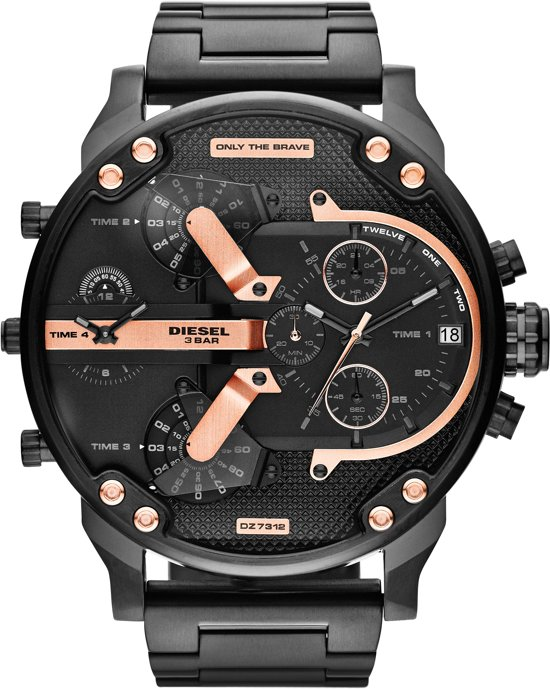 Diesel DZ7312 - Horloge - 57 mm  - Zwart