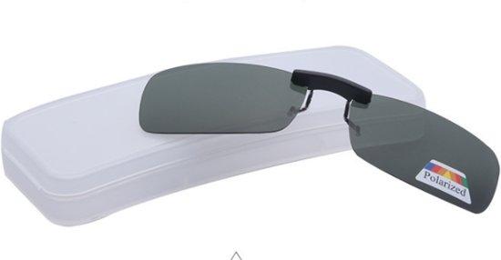 e731d8f401d0 DVSE - Opzetzonnebril - Opzet Zonnebril Gepolariseerd groen glas met  brillenkoker