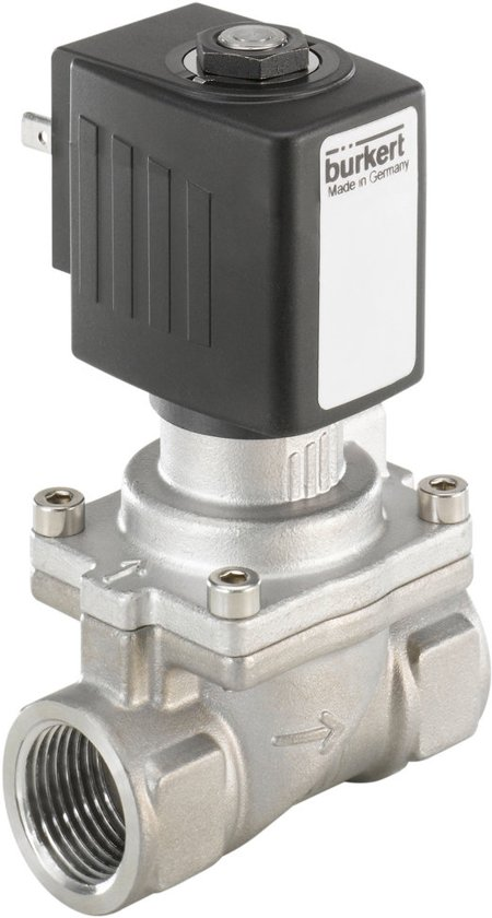 G1/2'' RVS NO 230VAC Magneetventiel Burkert 6281 261663 - 261663