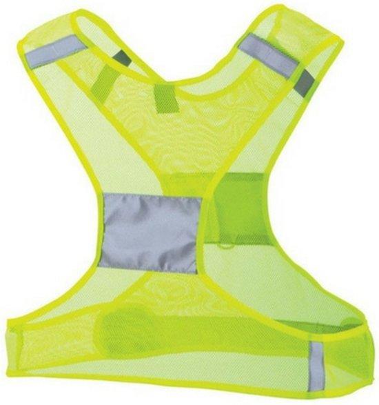Reflecterend vest - High visibility jacket- Hardloopvest - Hardlopen - Reflecterend vestje hardlopen - Geel - Verlichting en reflectie - Lichtgewicht