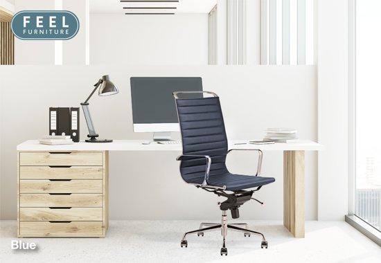 Bol.com feel furniture luxe design bureaustoel van 100% rundleer