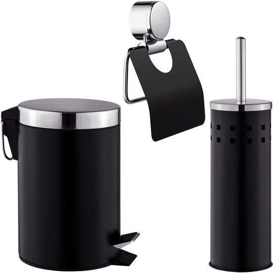 3-delig bad-toilet set pedaalemmer toiletborstel 400609