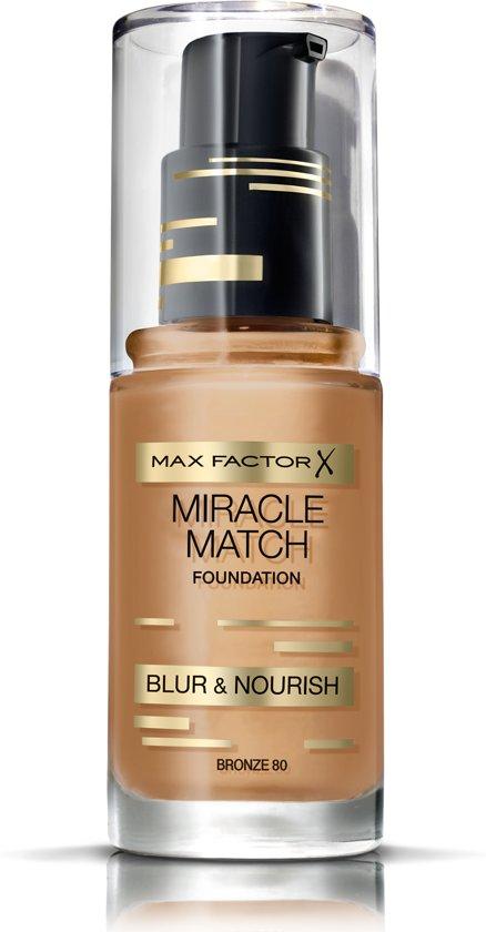 Max Factor Miracle Match Blur & Nour Foundation - 80 Bronze