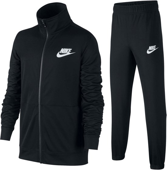 Nike Sportswear Trainingspak Junior  Trainingspak - Maat 158  - Unisex - zwart/wit Maat XL - 158/170