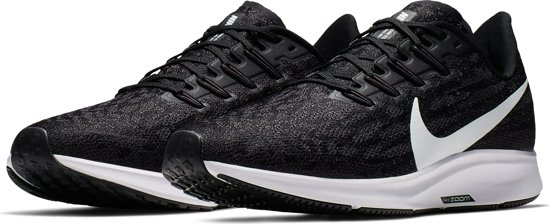 Nike Air Zoom Pegasus 36 Heren Hardloopschoenen - Black/White-Thunder Grey - Maat 40