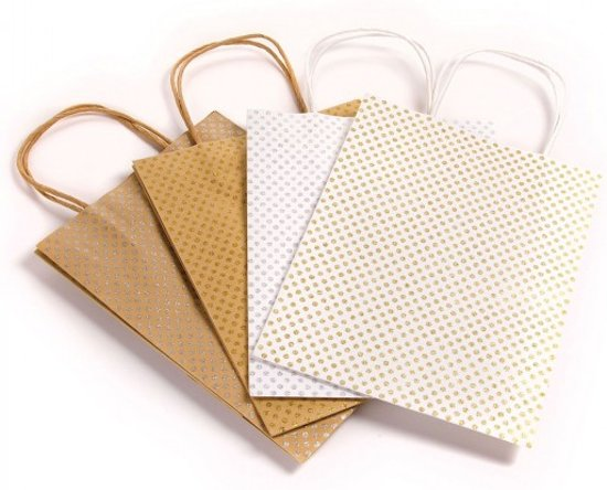 Darice bags large glitter x4 assorted