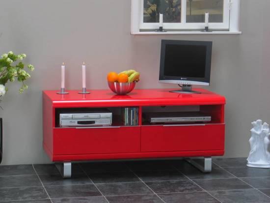 Tv Meubel Rood : Klotz tv meubel rood showroommodel het waaigat wonen slapen