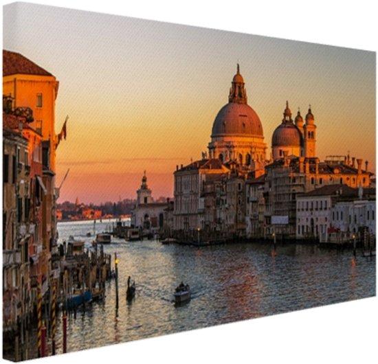 Canal Grande bij zonsondergang Canvas 30x20 cm - Foto print op Canvas schilderij (Wanddecoratie)
