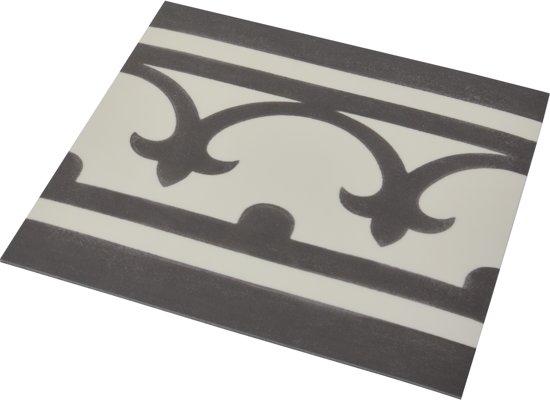 Bol.com flexxfloors vinyl vloer portugese tegel band zwart