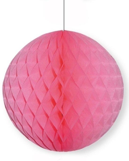 Decoratie bol lichtroze 10 cm - papieren kerstbal