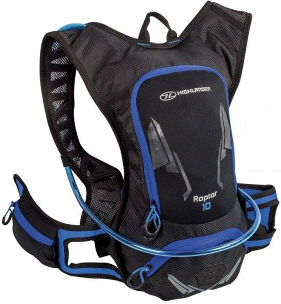 Highlander Raptor Hydration Pack 10 liter - Black/Blue