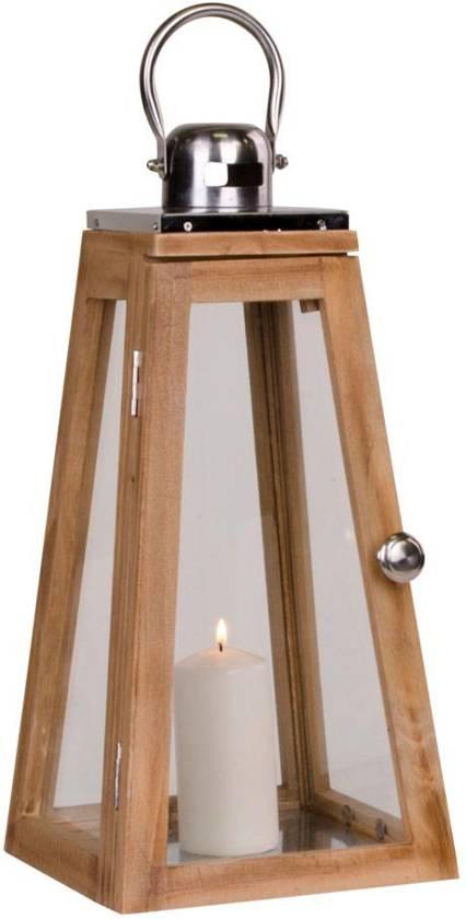 Norrut Eros windlicht in glas en hout