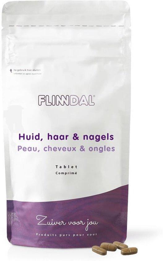 Huid, Haar & Nagels (Voor een gezonde huid en stralend haar) - 90 Tabletten - Flinndal