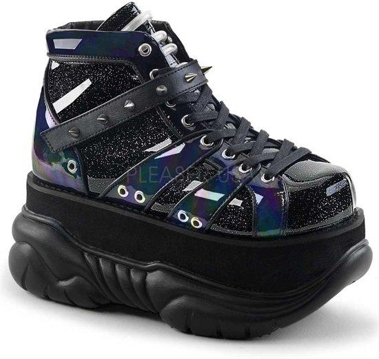 zwarte plateau sneakers