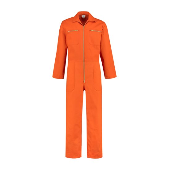 Yoworkwear Overall 100% katoen met rits oranje maat 62