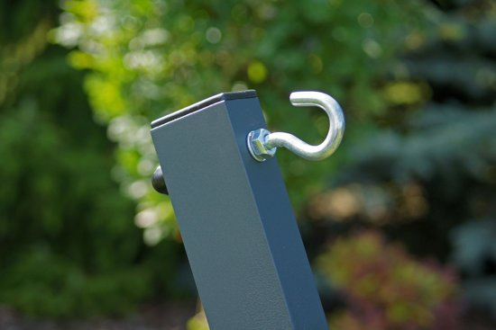 Potenza Titanium- Verzinkte massieve Tweepersoons hangmatstandaard /2- persoons hangmat standaard draagkracht: 350 kg