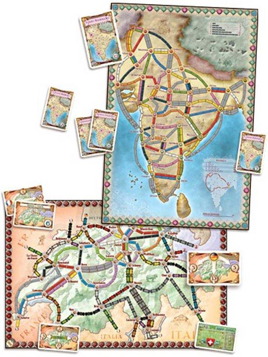 Ticket to Ride India/Zwitserland - Bordspel