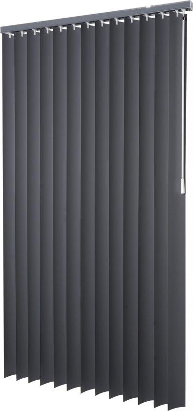 Intensions - Lamel PVC - 89mm - Uni Donkergrijs -250x180cm