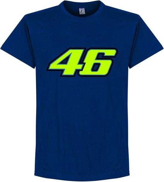 Valentino Rossi 46 T-Shirt - Blauw - XXL
