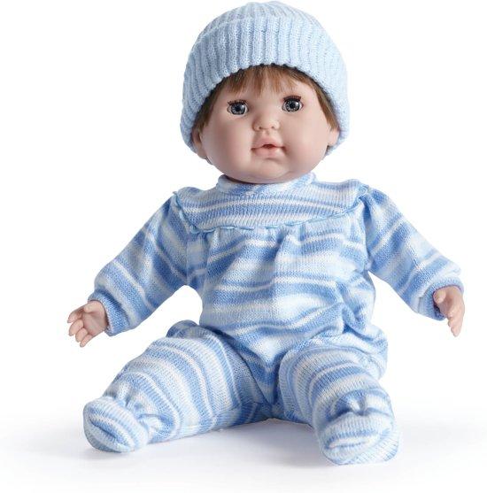 Berenguer babypop Nonis softbody bruin haar en slaapogen
