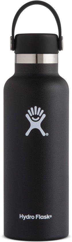 Hydro Flask 532 ml Standard Mouth Flex Cap - Zwart