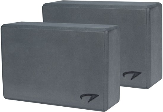 Avento Yoga Blok - Set - Grijs